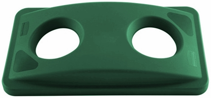 Immagine di RUBBERMAID COPERCHIO 2 FORI VERDE PER BIDONE SLIM JIM COD 2692